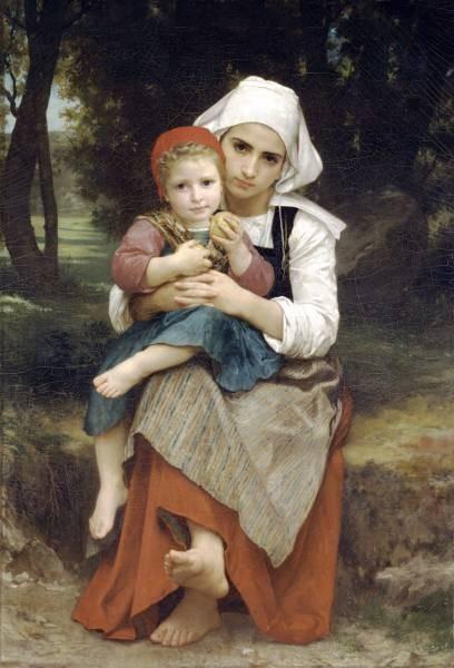 Frere et soeur bretons